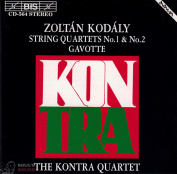 Kodaly The Kontra Quartet ‎– String Quartets No.1 & No.2 / Gavotte CD