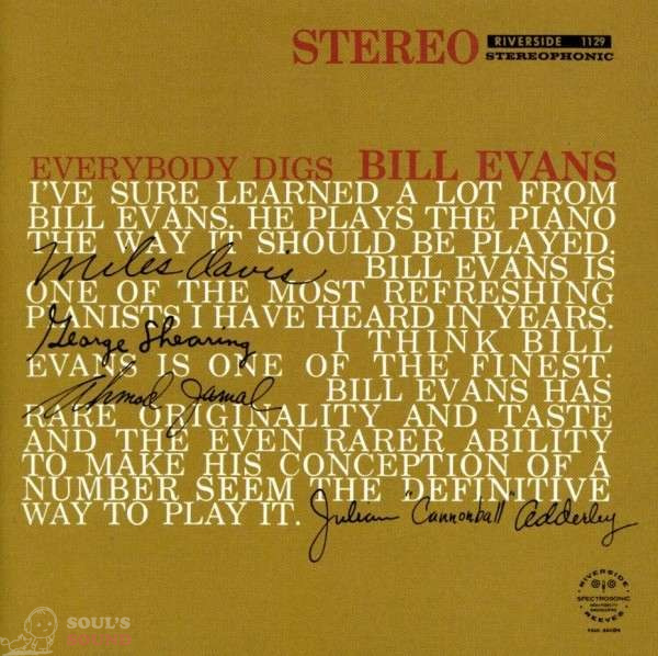Bill Evans Everybody Digs Bill Evans [Keepnews Collection] CD